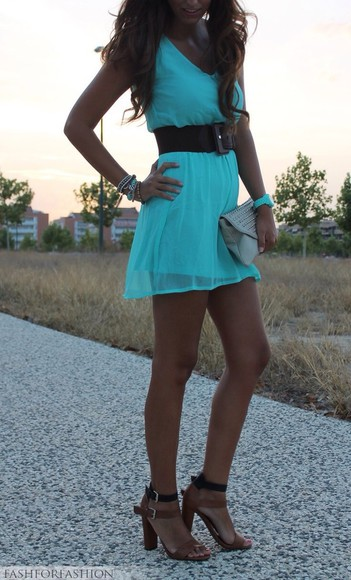 dress casual blue summer dress neon dress blue dress