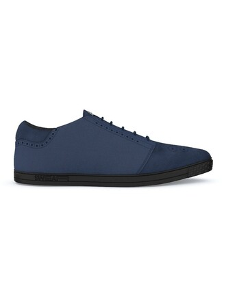 women sneakers leather blue suede shoes