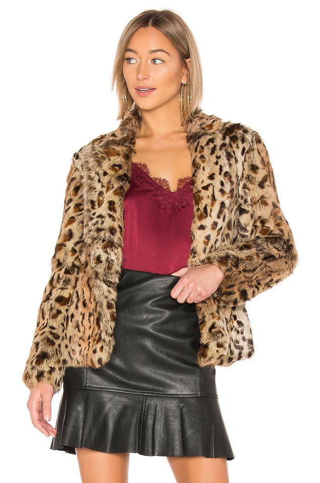 Adrienne Landau Rabbit Jacket in brown