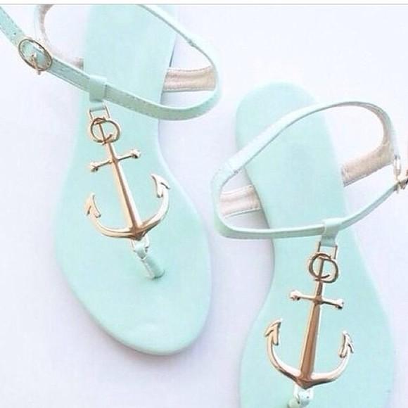 shoes coral,anchors,cute,trendy anchor mint mintgreen mintgreen heels