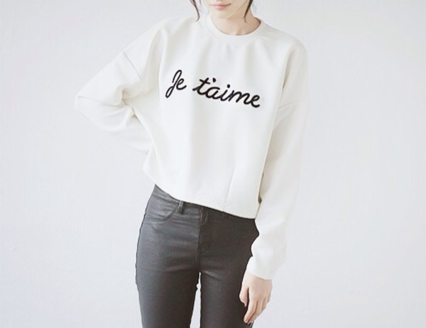 t-shirt jeans sweater