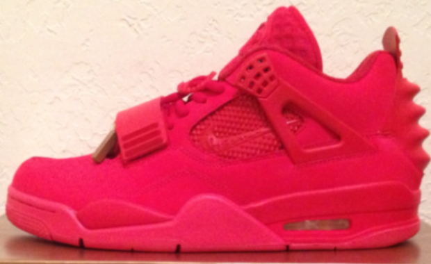 "Air Jordan 4 ""Red October Yeezy Revelation"" Custom  