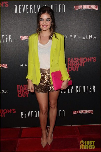 shorts lucy hale Sequin shorts