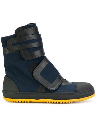 women boots leather cotton blue shoes