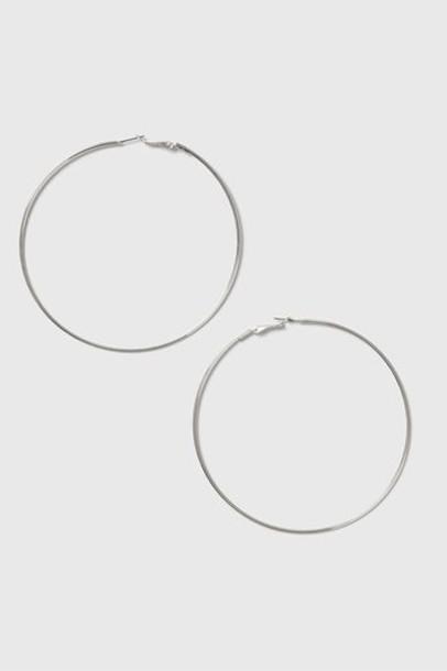 Topshop earrings hoop earrings silver jewels