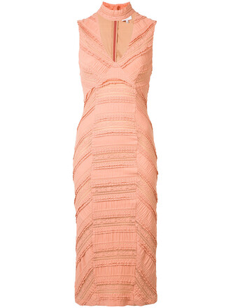 dress women spandex cotton purple pink