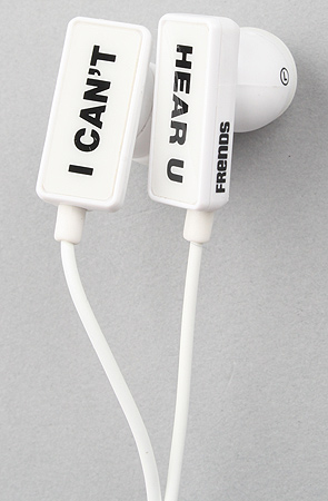 Frends Headphones Headphones Clip I Can't Hear U in White -  Karmaloop.com