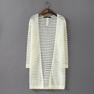 cardigan transparent long cardigan knitted cardigan open front cardigan