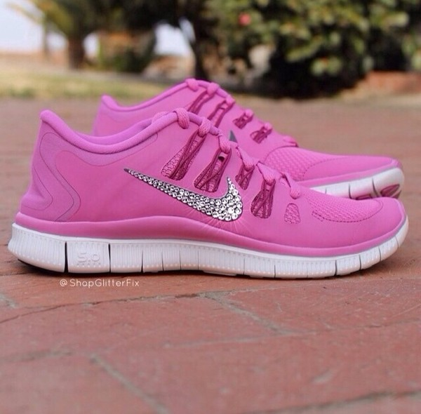shoes pink nike free run 5.0