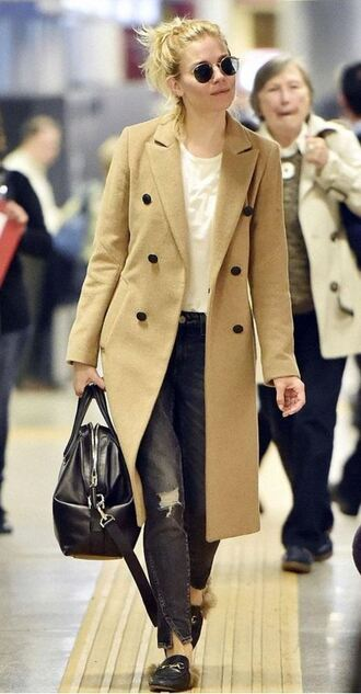 coat slippers flats sienna miller shoes