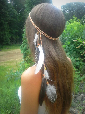 hair accessory feathers feather feather hair feather headband boho bohemian hippie hipster gypsy grunge girly headband headpiece festival coachella native american pocahontas