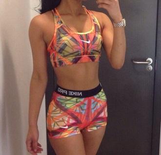 shorts nike pro colorful tropical exercise colorful nikes