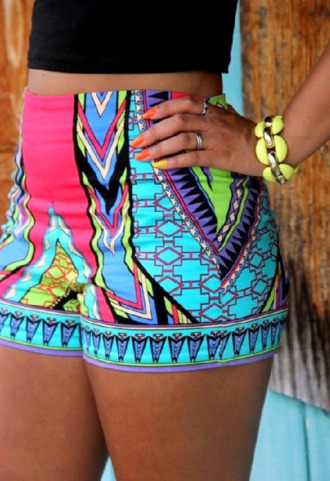 limegreen pattern patterned shorts colorful colorful shorts