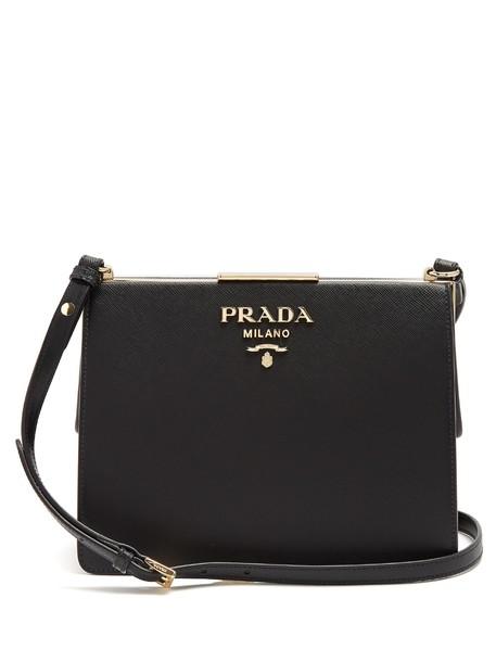 Prada bag shoulder bag leather black