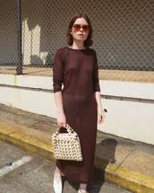 sunglasses,red sunglasses,maxi dress,black dress,bag,shoes