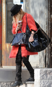 coat,fall outfits,mary kate olsen,olsen sisters