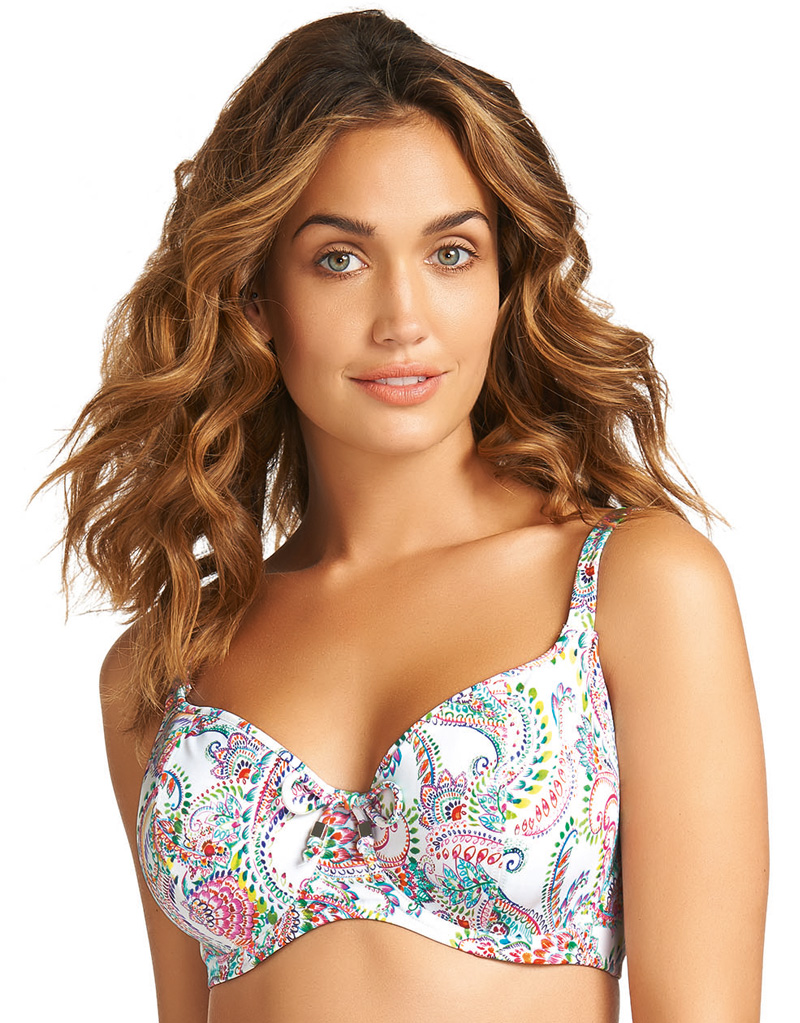 e521aec41a864 Fantasie Orissa Padded Balconette Bikini Top White - Brastop