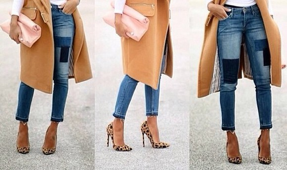 jeans details shoes demin coat skinny jeans