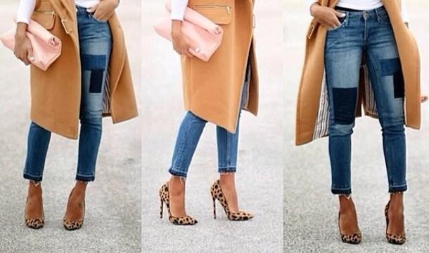 jeans demin skinny jeans details shoes coat - Jeans: Demin, Skinny Jeans, Details, Shoes, Coat - Wheretoget
