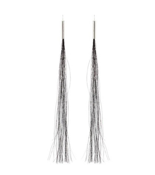 Helmut Lang hair horse earrings black jewels