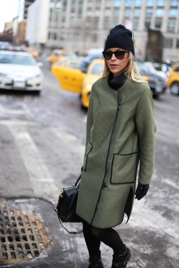 happily grey coat bag hat shoes sunglasses