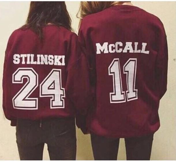 sweater dylan o'brien teen wolf burgundy etsy jersey number stiles stilinski scott mcall sweatshirt shirt scott mccall burgundy beacon hills teen wolf lacrosse teen wolf long sleeves