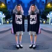 sweater,creepy,kawaii,andi autumn,pastel goth,creepers,creepy cute,japanese fashion,cute,black,white,monochrome,tumblr,tumblr girl,pretty,pastel,shoes,creep,harajuku,goth,grunge,soft grunge,punk,emo