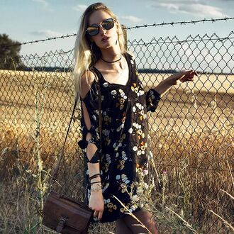dress zaful black black dress floral floral dress summer summer dress fashion trendy lookbook beautiful style instagram