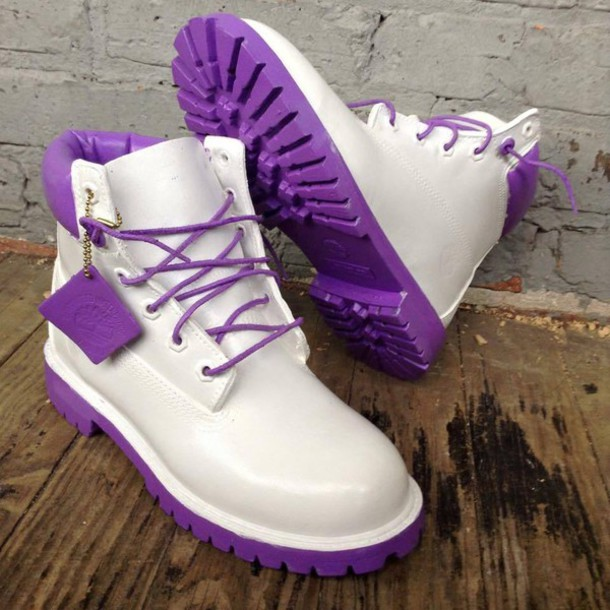 Shoes Purpleandwhitetimberlands Timberlands