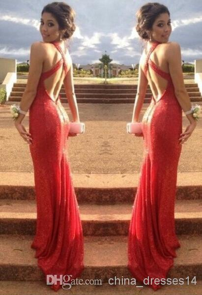 Sexy Red Mermaid Prom Dress
