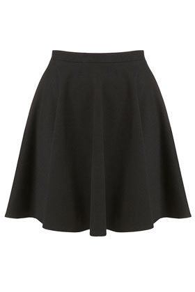 Black Milano Skater Skirt - Skirts  - Clothing  - Topshop