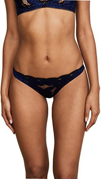bikini blue black swimwear