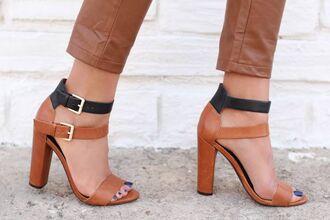 shoes justfab mango tasia heels cool summer cognac zara