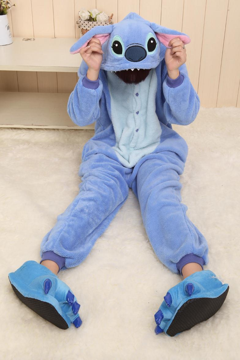Pijams 2015 Flannel Humorous Animal Blue Stitch Onesie Adult Unisex Pyjamas Cosplay Costume Pajamas Party Dress Size XXS XL-in Clothing from Novelty & Special Use on Aliexpress.com | Alibaba Group