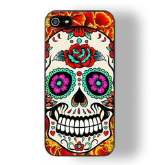 Skull with flowers iphone 5/5s case