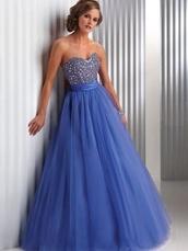 dress,prom,purple,blue,pretty,strapless