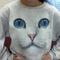 Amazon.com: cat face uni-sex sweatshirt: clothing