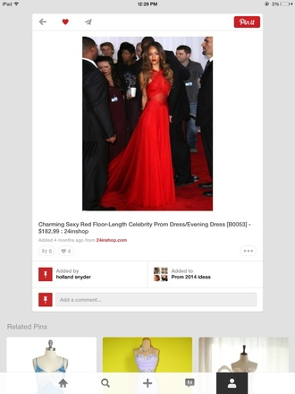 dress red dress rihanna