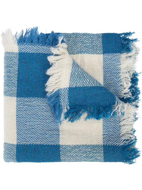 Closed women scarf blue wool