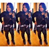 jacket,all black everything,killed it,body bag,pretty,pappin,fly