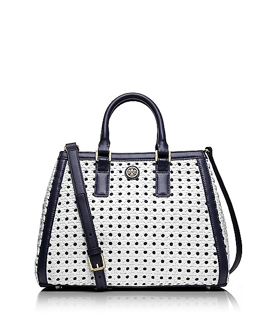 Robinson Basket-weave Triangle Tote  | Womens Robinson | ToryBurch.com