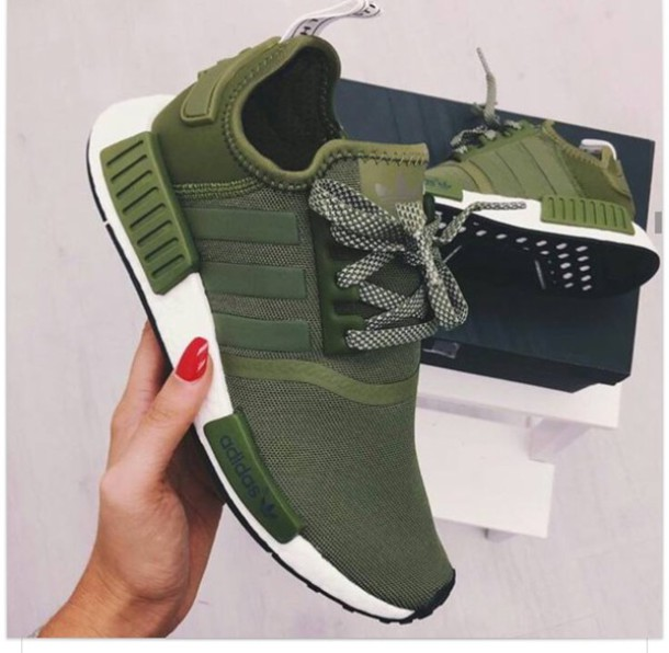 ea7636eae ... adidas nmd army green shoes ...