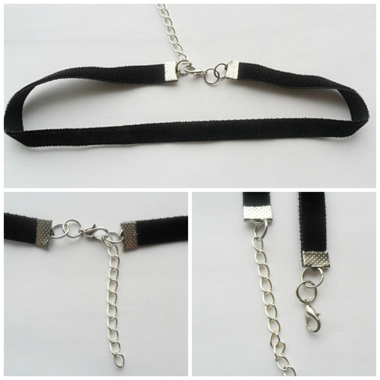 "Velvet choker necklace black ribbon ,adjustable size with a width of 3/8"" ( pick your neck size) Ribbon Choker Necklace"