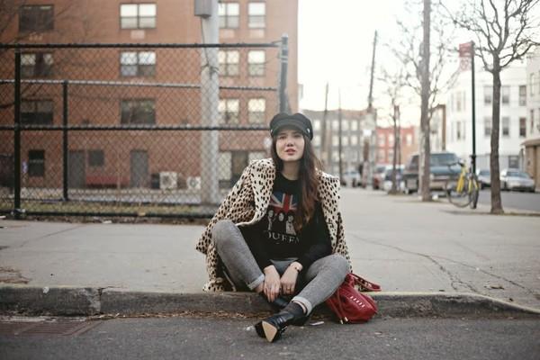 color me nana sweater pants shoes coat hat bag