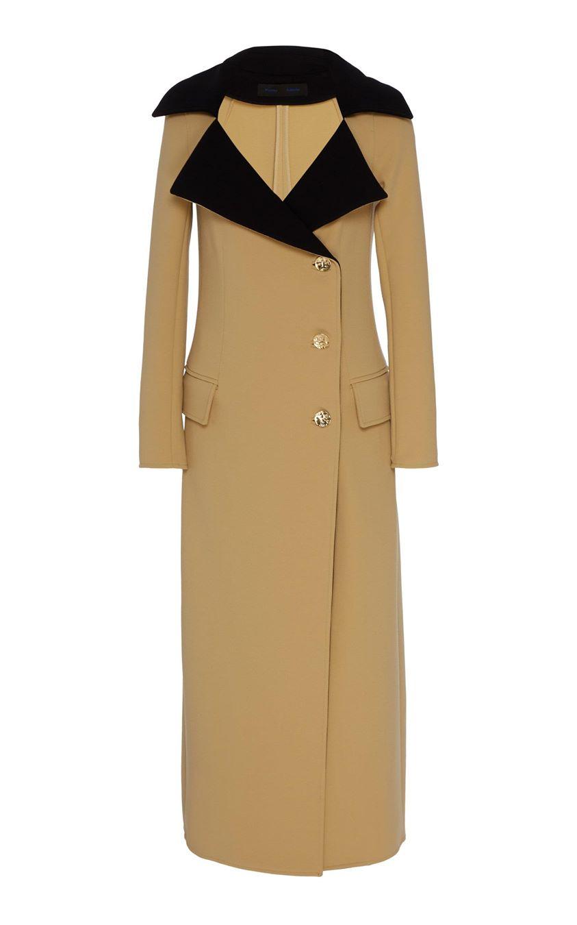 Proenza Schouler Contrast Wool Coat Size: 0