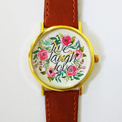 jewels,watch,handmade,style,fashion,vintage,etsy,freeforme,summer,spring,gift ideas,new,love,hot,trendy,floral,fower,flowers,live,laugh,pink,green