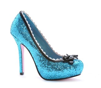 shoes blue glitter sparkle party bow wedding prom essex purple rose boutique sexy