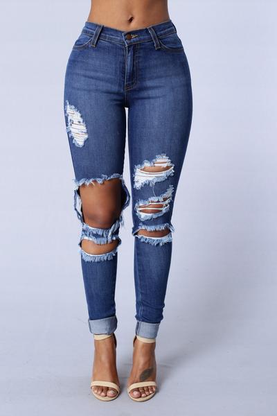 Beach Bum Jeans - Medium Blue | Fashion Nova