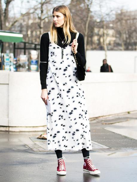 Dress Tumblr Maxi Dress White Dress Printed Dress Slip Dress
