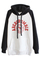 Romwe color block letters print black hoodie, the latest street fashion